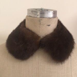 Accessories - Beautiful GENUINE MINK FUR collar lined